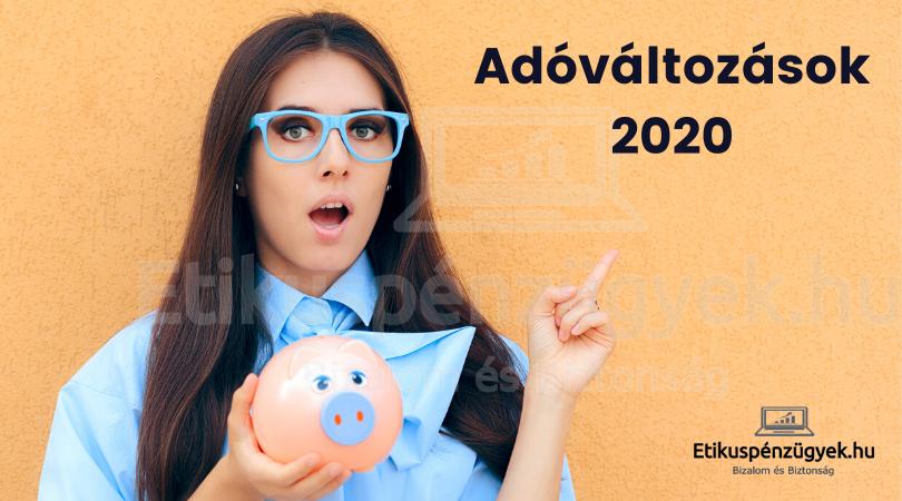 Adóváltozások 2020