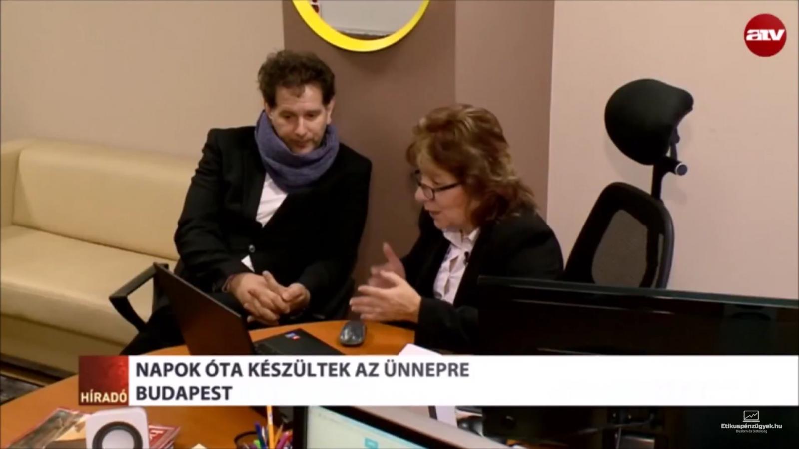 Cziráki Móni ATV Híradóban Somos Andrással
