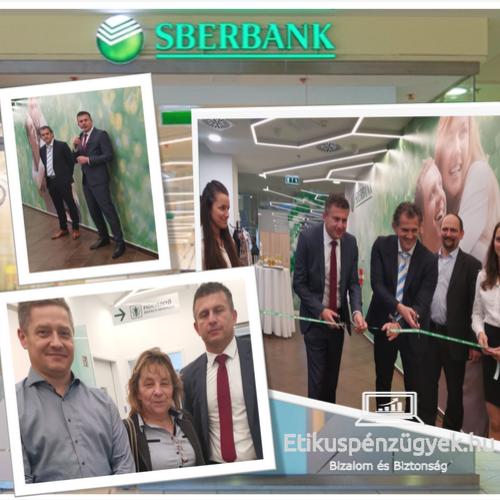 Sberbank fiókmegnyitón