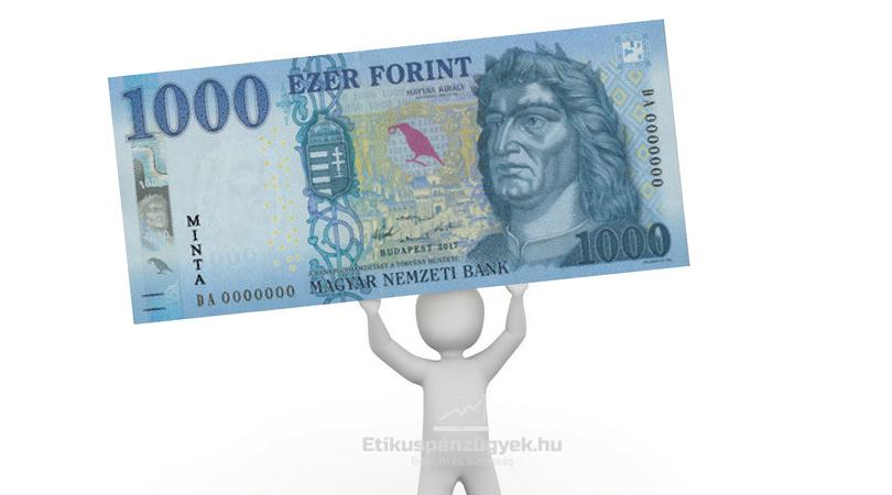 Jön az új 1000 Ft-os bankjegy is