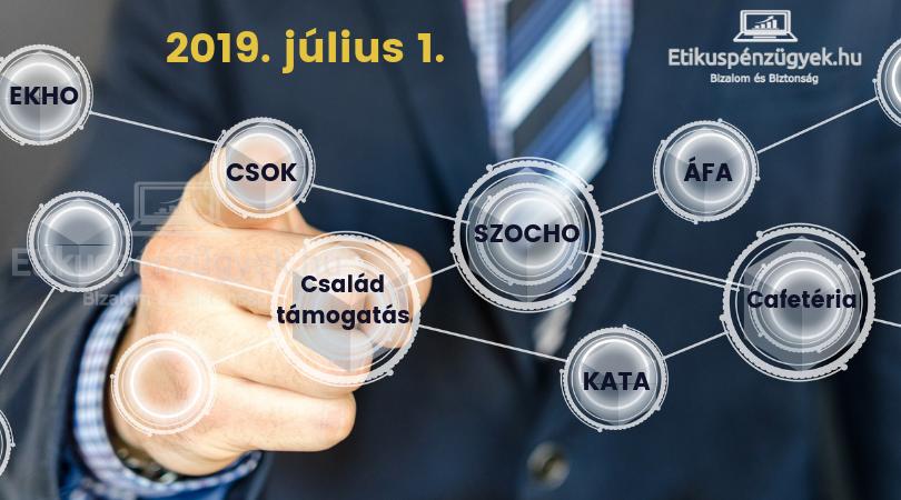 Már megint változik: adócsökkentés, családtámogatás, ÁFA, KATA - 2019. július 1.