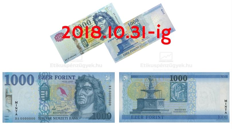 Újabb bankjegyet cserélünk le - 1000 Ft-os
