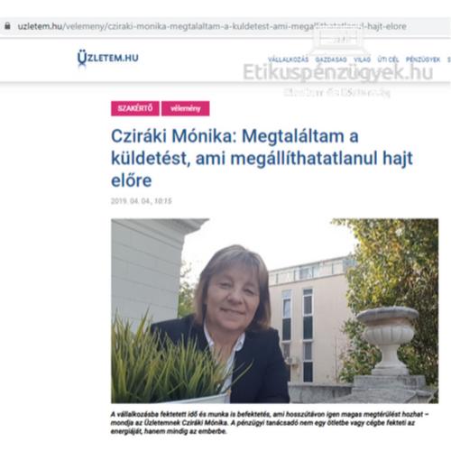 Interju velem a szakmai hitvallásomról az Üzletem.hu oldalon